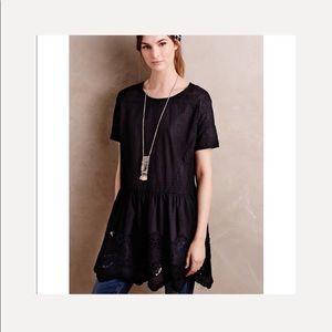 Anthropologie HD in Paris black tunic blouse